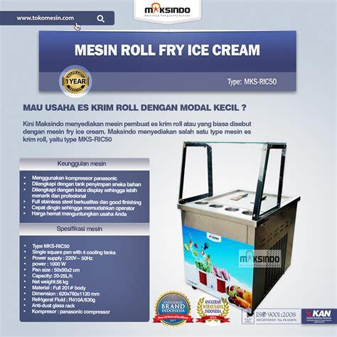 Mesin Es Krim Roll mesin roll fry ric50 toko mesin maksindo toko