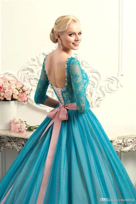 Modest Teal Quinceanera Dresses Square Neck Half Long