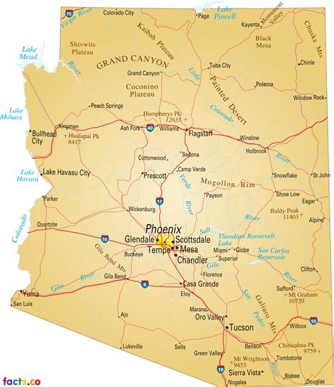 arizona map with cities arizona map blank political arizona map with cities