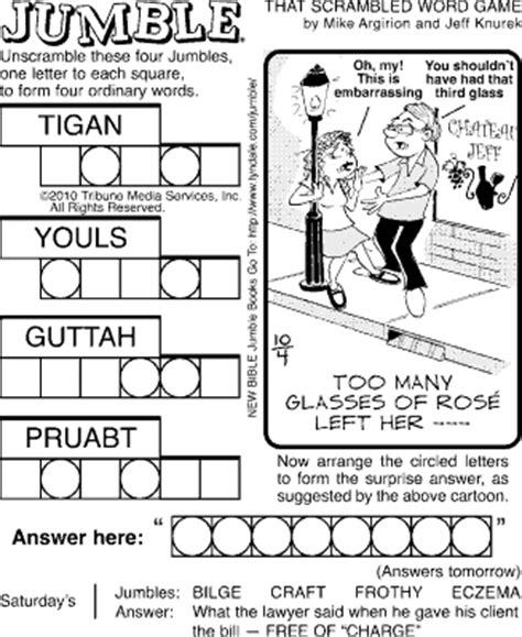 free printable jumble games 7 best images of printable jumble crosswords free