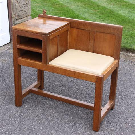 Wilf squirrelman hutchinson oak telephone table and seat