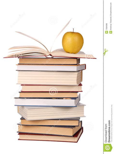 apple picture books books and apple royalty free stock image image 7394586