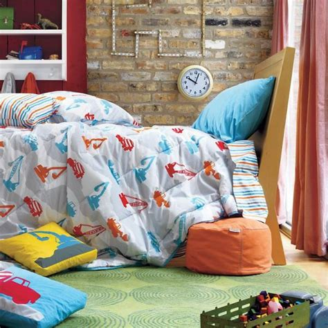 construction toddler bedding construction zone bedding for boys