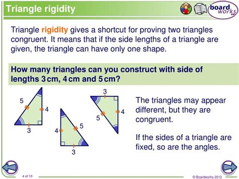 how many four sided figures appear in the diagram below ppt congruence in triangles powerpoint presentation id