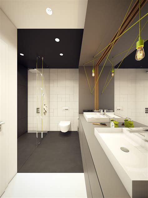 green and black bathroom a modern scandinavian inspired apartment with ingenius