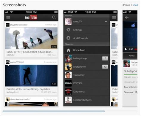 youtube app layout youtube app for ios gets live streaming one channel layout