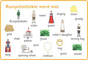 rumpelstiltskin word and image mats free early years