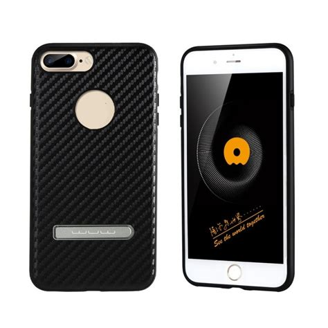 Wuw Iphone 7 Leather Coated Back Cover wuw iphone 7 plus leather coated back cover in black