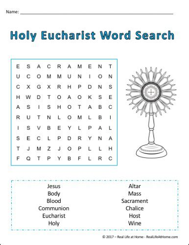 the cross word and sacrament books holy communion word search printable for