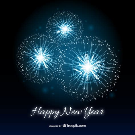 Free And New Year Card Templates by Happy New Year Card With Fireworks Vector Free