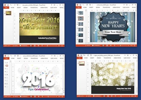new year powerpoint template 2016 animated new year 2016 powerpoint templates slidehunter