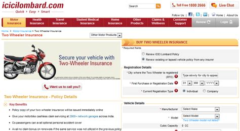 renew icici lombard motor insurance best two wheeler insurance for bikes motorcylces