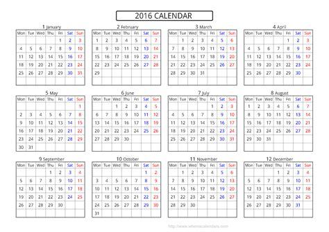 calendar template 2016 calendar 2016 template printable pdf image 10 templates
