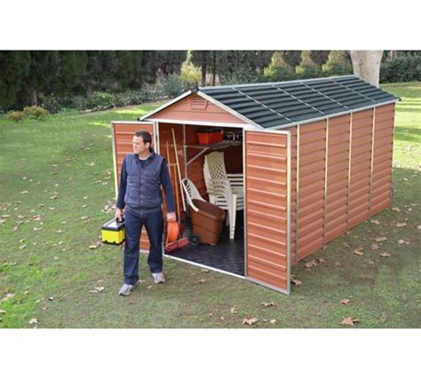 buy palram skylight plastic shed 6x12ft at argos