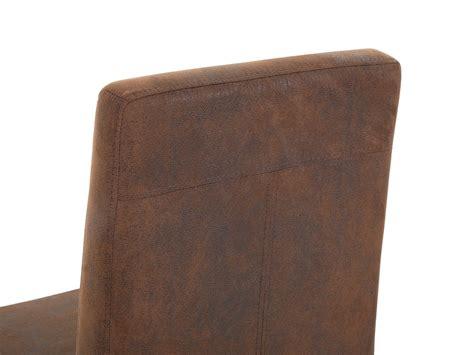 sedie in acciaio e pelle sedia da pranzo in acciaio e pelle marrone arctic beliani it