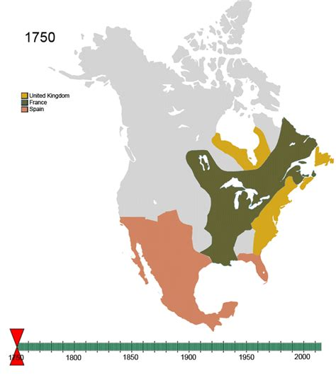 america map in 1750 map 1750 america images