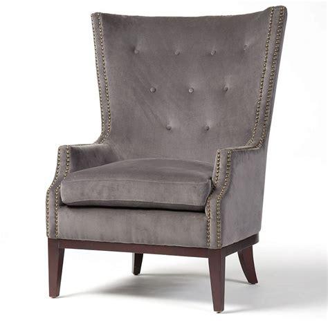 Velvet Chairs Furniture Mercer Mollie Croc Velvet Wingback Chair