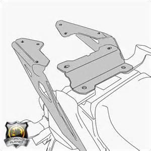 Light Tracer Givi Sr2122 Top Box Rack For Yamaha Mt 09 Tracer Yamaha