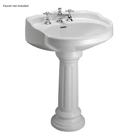Barclay Pedestal Sink by Barclay 34 12 In H White Vitreous China Pedestal