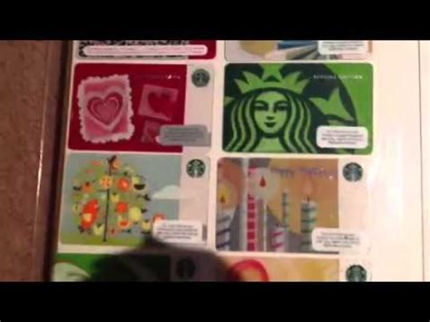 Starbucks Gift Card Collection - my starbucks gift card collection youtube