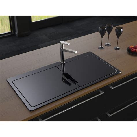 Glass Kitchen Sink Astracast Vantage Sio Bowl Brushed Stainless Steel Black