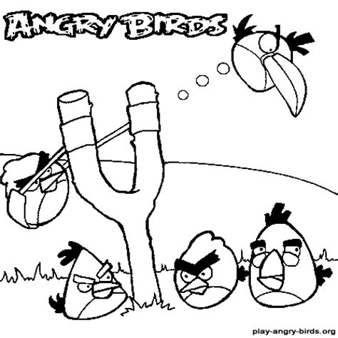 angry birds slingshot coloring page image gallery slingshot coloring