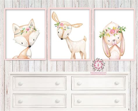 baby nursery kids room wall art prints printable boho