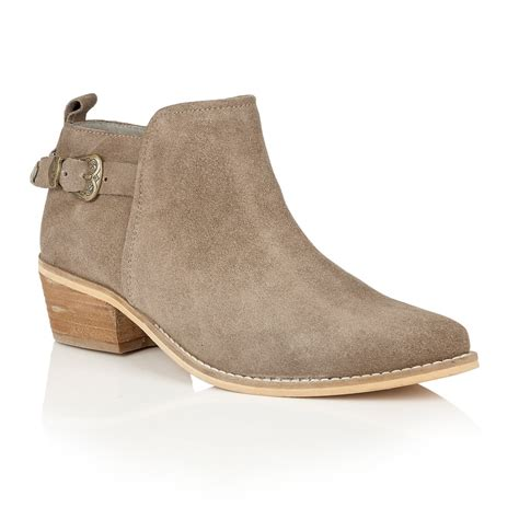 boot shoes buy ravel kendall ankle boots in taupe suede