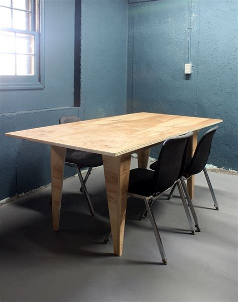 Plywood Table by Diy Modern Birch Table From One Sheet Of Plywood