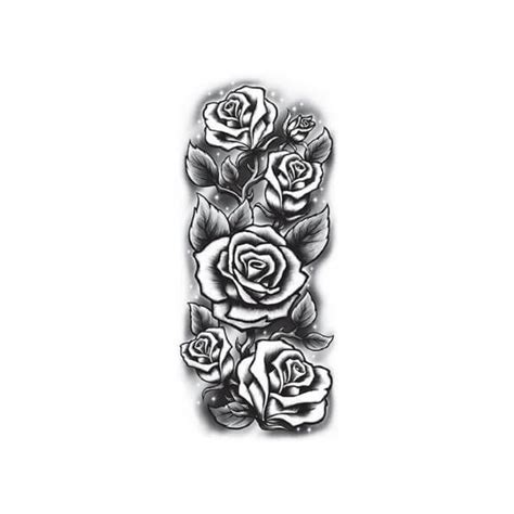 black and white rose tattoo sleeve sleeve black and white roses sticker