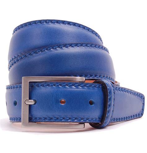 tom and harry unisex cobalt blue leather belt