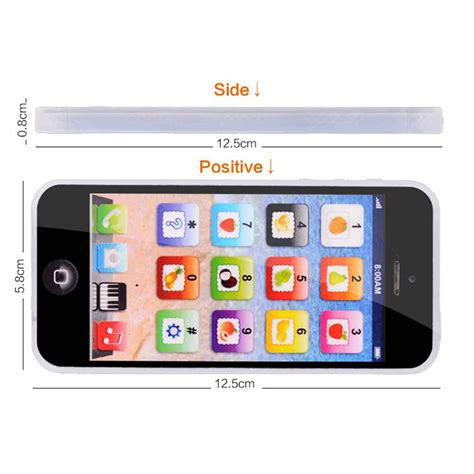 Mainan Edukasi Bayi Celular Phone mainan edukasi bahasa inggris touchscreen model iphone 5