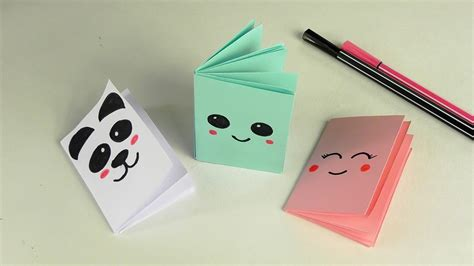 How To Make Paper Notebook - diy kawaii notebook of 1 sheet of paper mini office of
