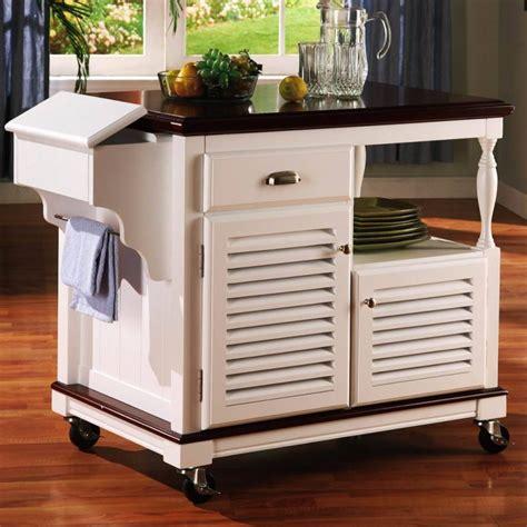 kitchen kitchen cart with trash bin makes your
