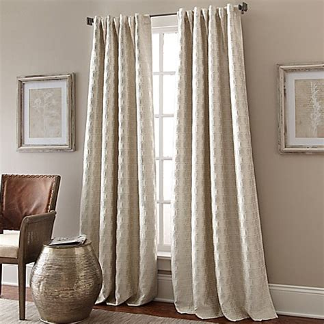 curtains with circles strie circles lined window panel bedbathandbeyond com