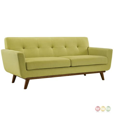tufted loveseats engage modern 2pc upholstered button tufted loveseat and