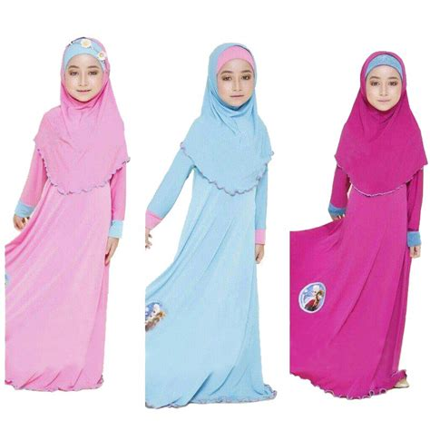 Jilbab Segi Empat Crepe 1 two sets traditional clothing fashion child abaya muslim dress jilbab and