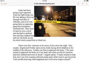 On The Sidewalk Bleeding Essay Conclusion by Bleeding On The Sidewalk Essay