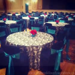white turquoise reception decor black white turquoise red event decor
