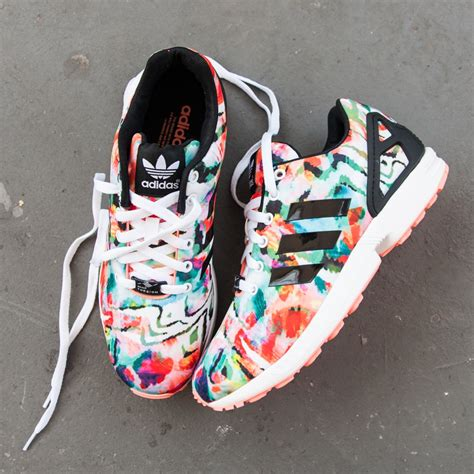 Sport Girly Shoes womens adidas zx flux athletic shoe multi 436181
