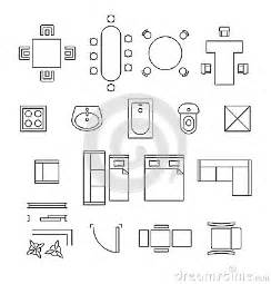 Furniture Icons For Floor Plans by Furniture Linear Vector Symbols Floor Plan Icons Stock