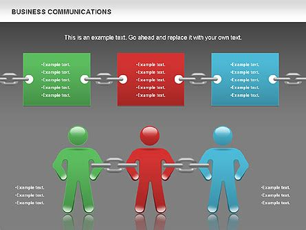 Communication Caign Template communication chain for powerpoint presentations