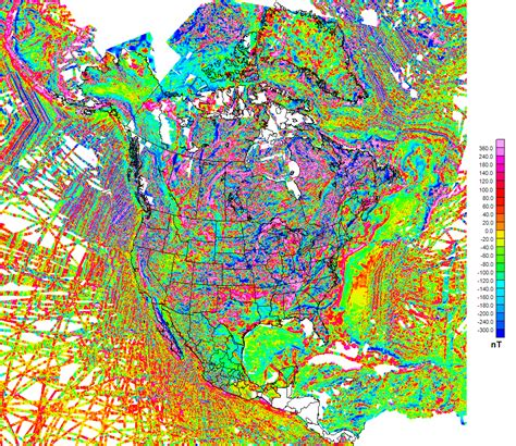 america magnetic anomaly map a preliminary spectrum magnetic anomaly grid of the