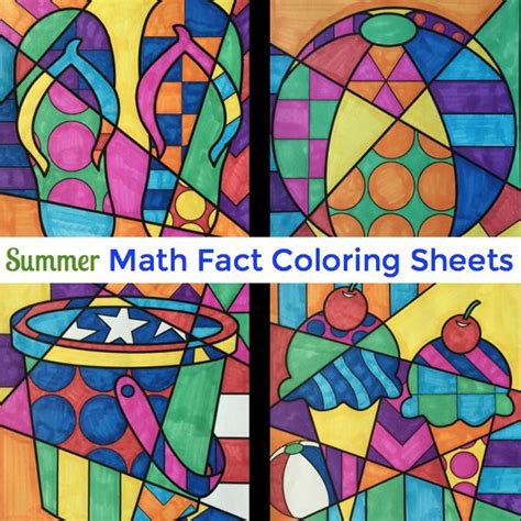 7 Facts On Summer by Summer Math Fact Review Coloring Sheets Great End Of The