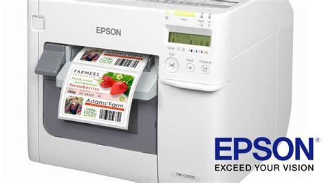 color label maker epson tm c3500 colour label printer