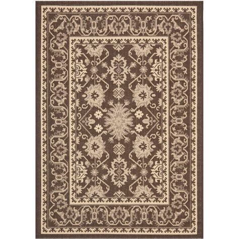 Safavieh Outdoor Rug Safavieh Courtyard Chocolate 4 Ft X 5 Ft 7 In Indoor Outdoor Area Rug Cy6727 204 4