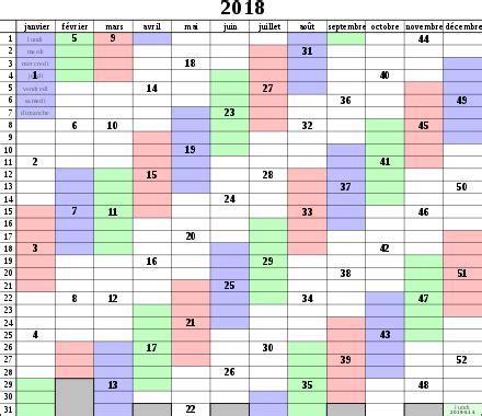 Calendrier 2018 Avec Numero Semaines Semaine Wikip 233 Dia
