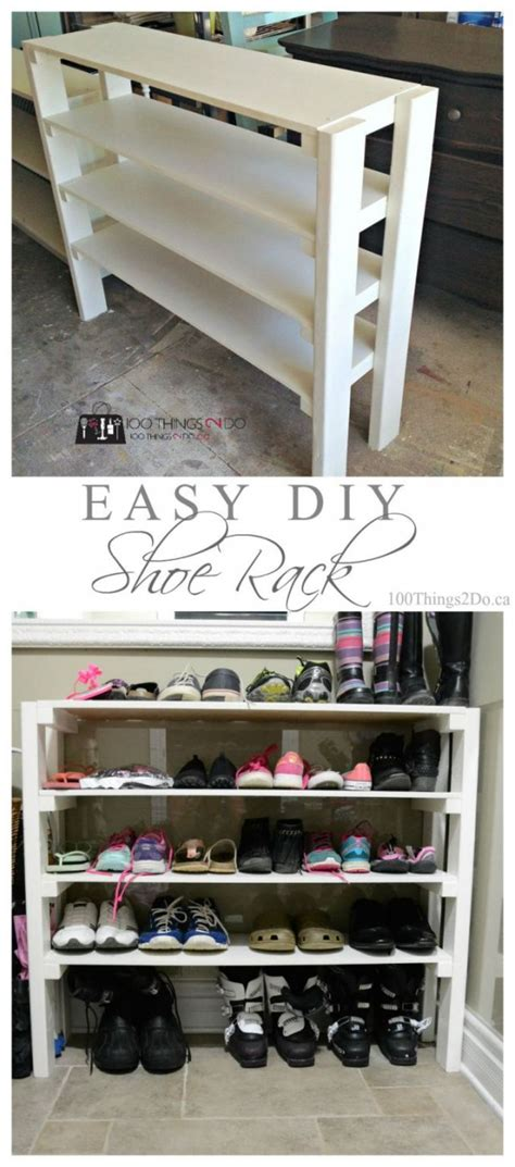 easy shoe storage 15 easy diy shoe storage projects you can build on a budget