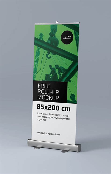 Free Up free roll up mockup mockups design free premium mockups
