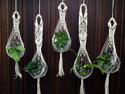 How To Make Plant Hangers Macrame - project gallery the knot studio